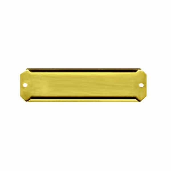 Brass Shelf Label Holders, 3/4 inch - paxton hardware ltd