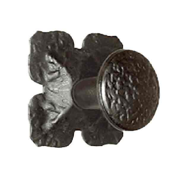 Black Iron Knobs - Cloverleaf Backplate - paxton hardware ltd
