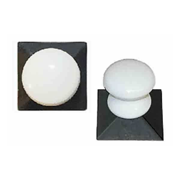 Porcelain Knob - Square Backplate - paxton hardware ltd