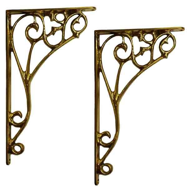 Brass Shelf Brackets - paxton hardware ltd