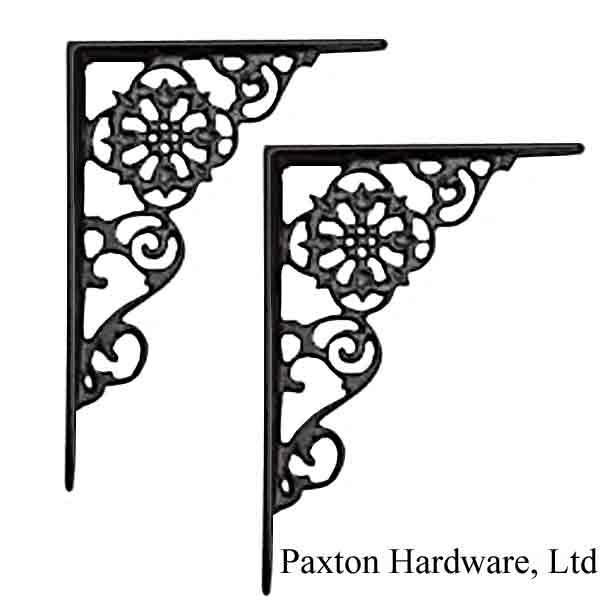 Black Iron Shelf Brackets - paxton hardware ltd