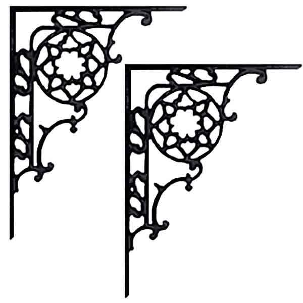 Iron Shelf Brackets mount to wall to hold shelf