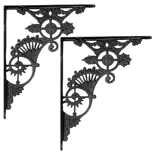 Victorian Shelf Brackets, Cast Iron