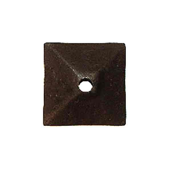 Square Black Iron Ornaments or Knob Backplates