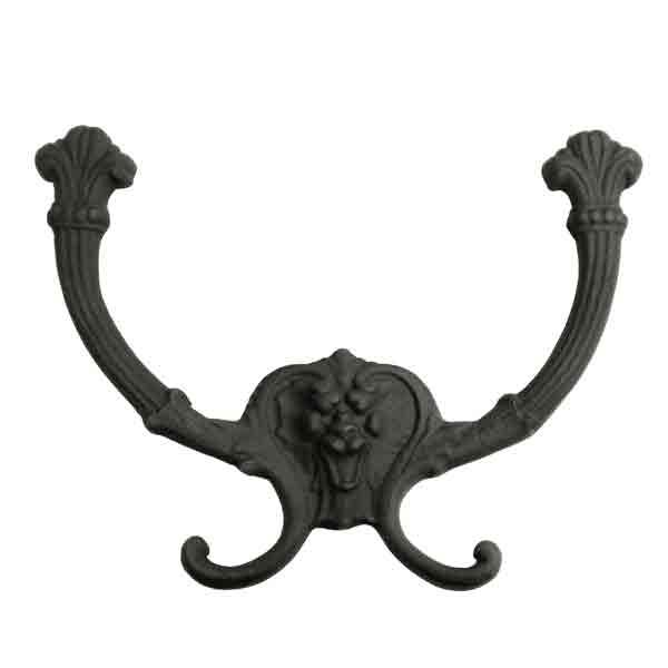 Black Double Iron Hooks - paxton hardware ltd