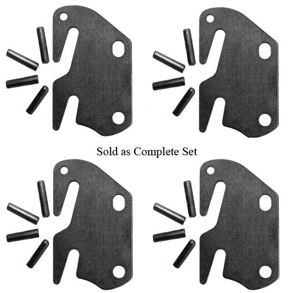 Bed Rail Hooks, in a complete set, to assemble bed