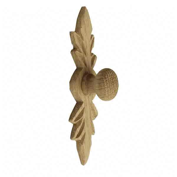 Oak Wood Knobs with Backplate - paxton hardware ltd