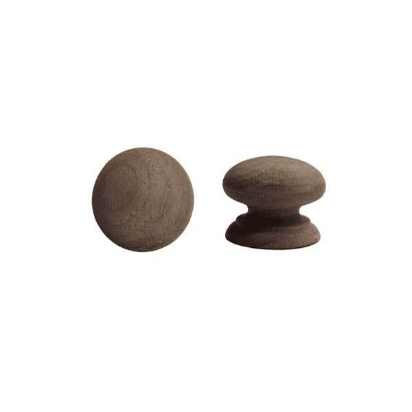 Wood Furniture Knobs, 1-1/4 inch Walnut - paxton hardware ltd