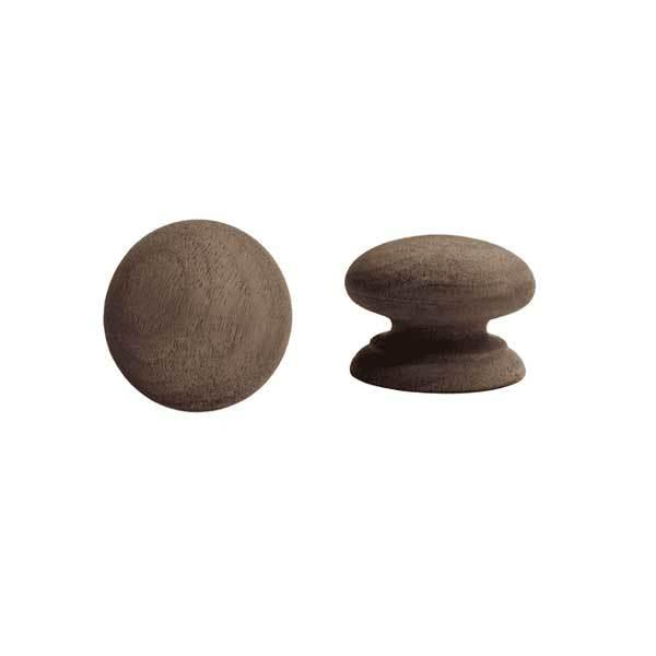 Wood Furniture Knobs, 1-1/2 inch Walnut - paxton hardware ltd