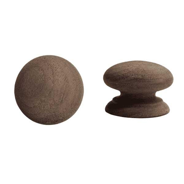 Wood Furniture Knobs, 2 inch Walnut - paxton hardware ltd