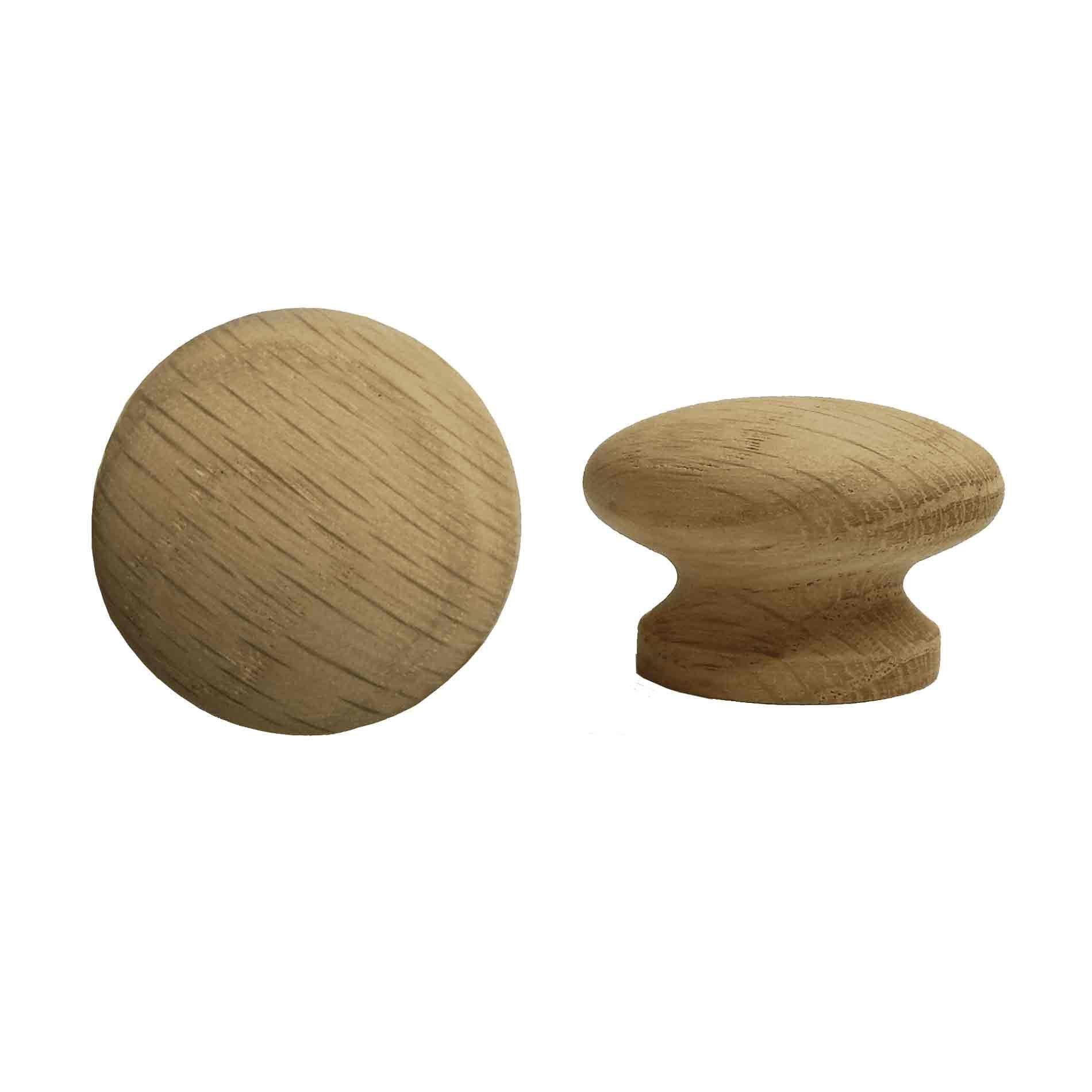 Wood Cabinet Knobs, 1-1/2 inch Oak - paxton hardware ltd