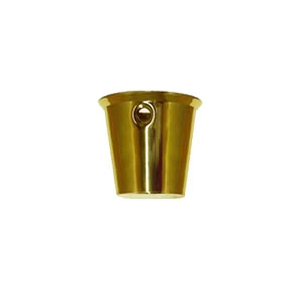 Small Round Brass Leg Cups and Ferrules for furniture legs