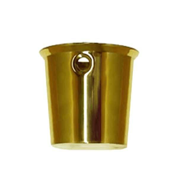 Large Round Brass Leg Cups for Furniture