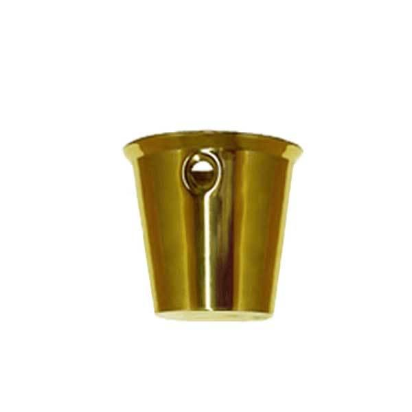 Round Brass Furniture Leg Cups for chair and table legs