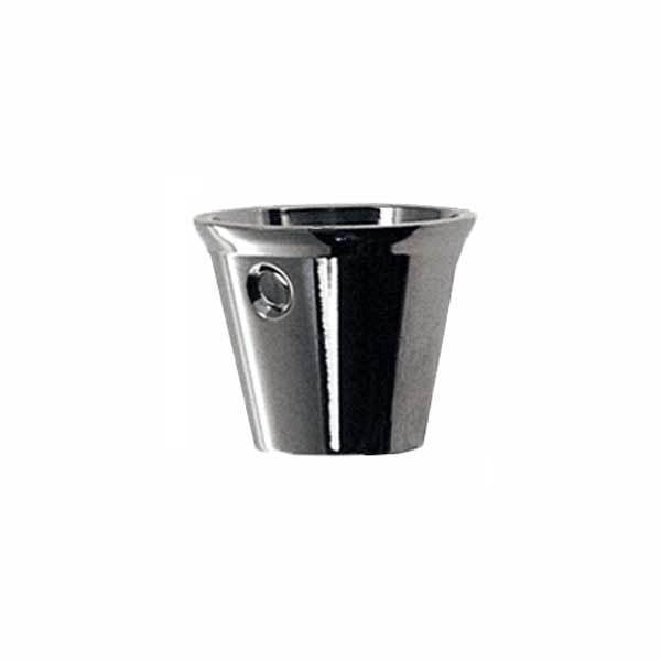 Round Nickel  Furniture LegCups, Medium