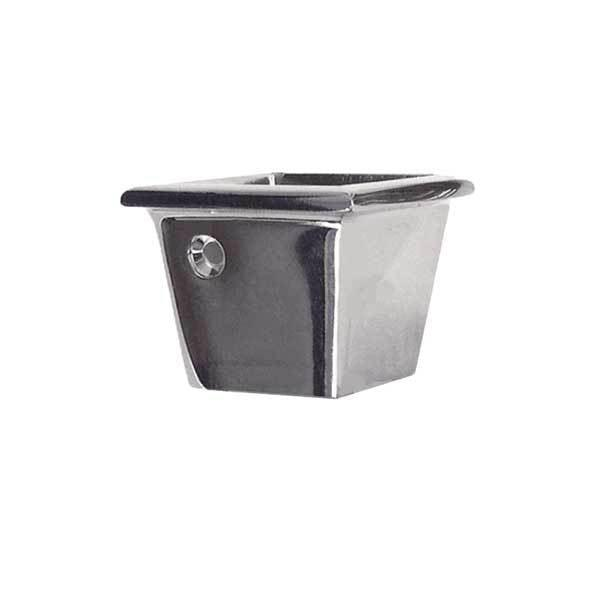 Square Nickel  Furniture Leg Cups, Small