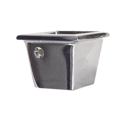 Square Nickel  Furniture Leg Cups, Medium