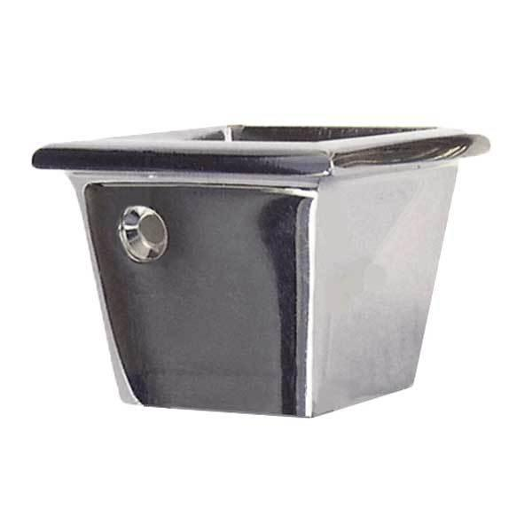 Square Nickel  Furniture Leg Cups, Large