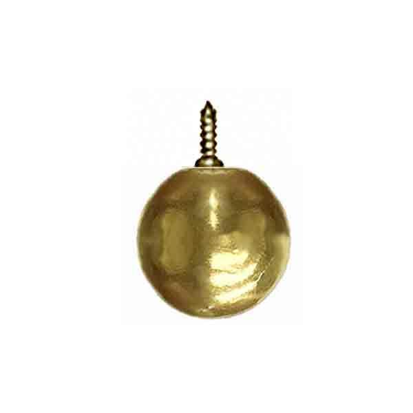 Screw-on Brass Ball, 1 inch - paxton hardware ltd
