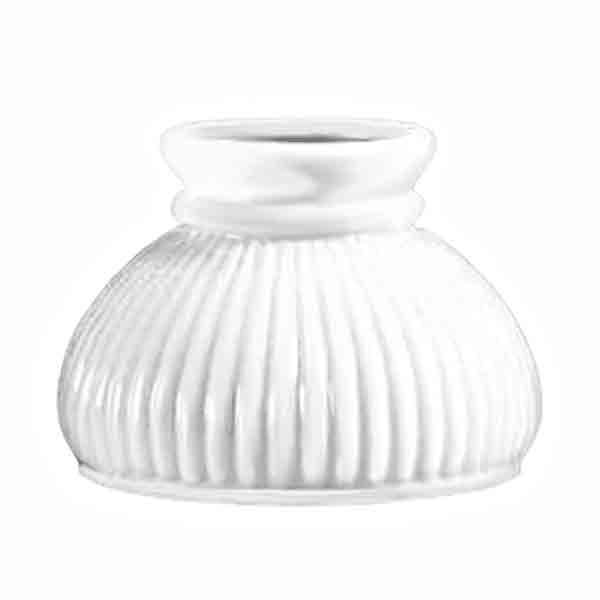 "Opal ribbed lamps shade, small 6"" fitter"