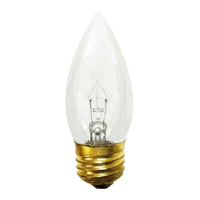 Slender Torpedo Light Bulbs easily fit within lamp chimneys