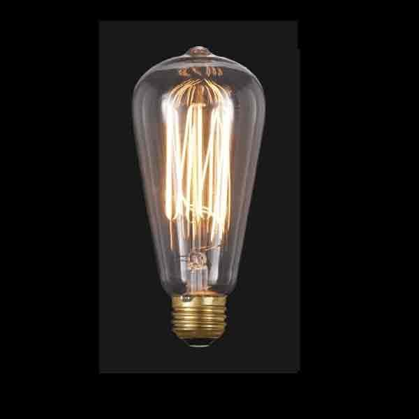 Squirrel Cage Light Bulbs with standard base providea  modern, industrial appearance