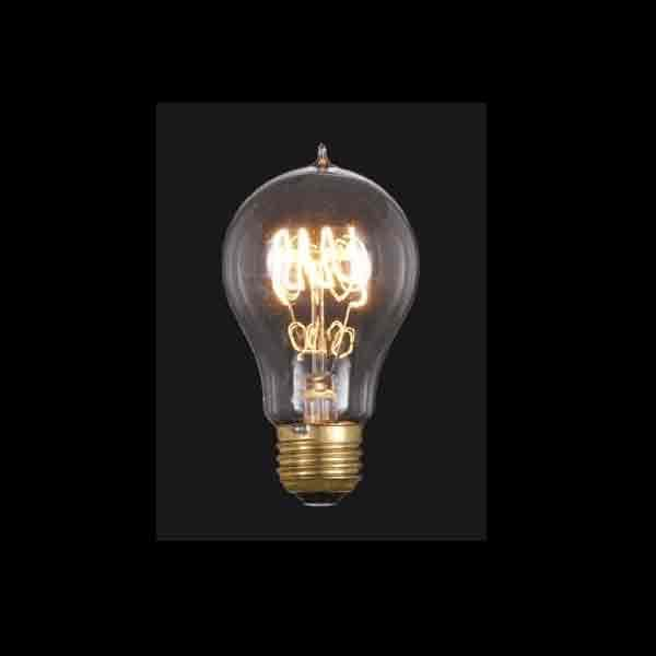 """Quad Loop"" Filament Light Bulbs offer an early 20th century appearance"