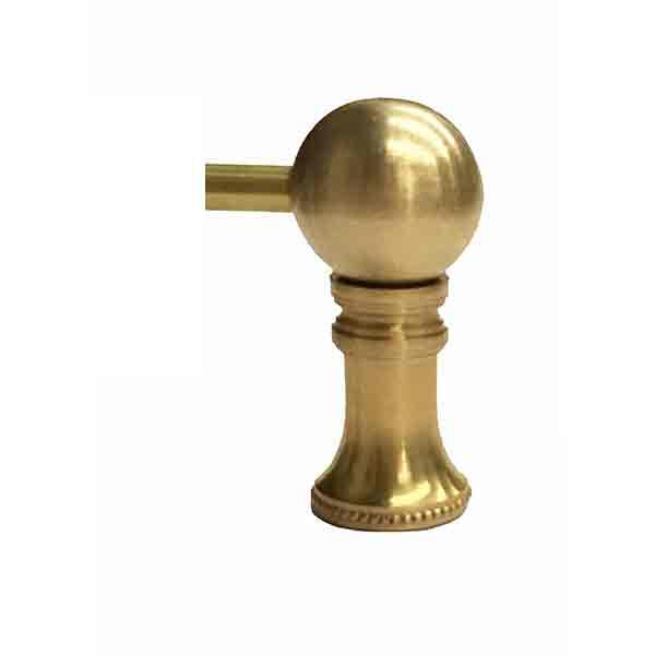 Brass Gallery Rail - End Posts - paxton hardware ltd
