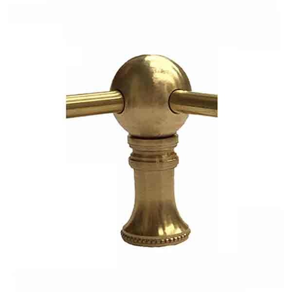 Brass Gallery Rail - Corner Posts - paxton hardware ltd