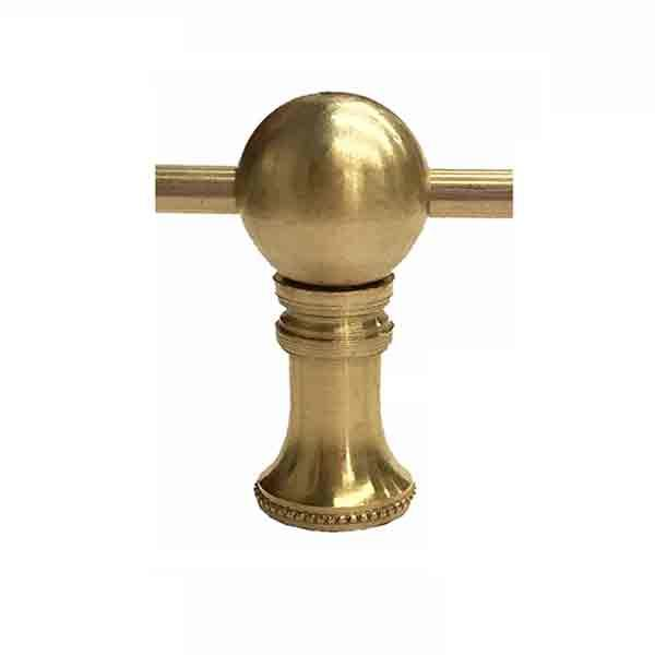 Brass Gallery Rail - Center Posts - paxton hardware ltd