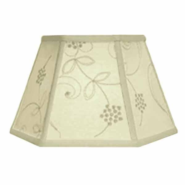 Bridge Lamp Shades with Candlewick stitched design for floor lamps with uno lamp sockets
