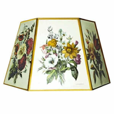 Large Vintage Floral Floor Lamp Shades for table, harp and reflector lamps