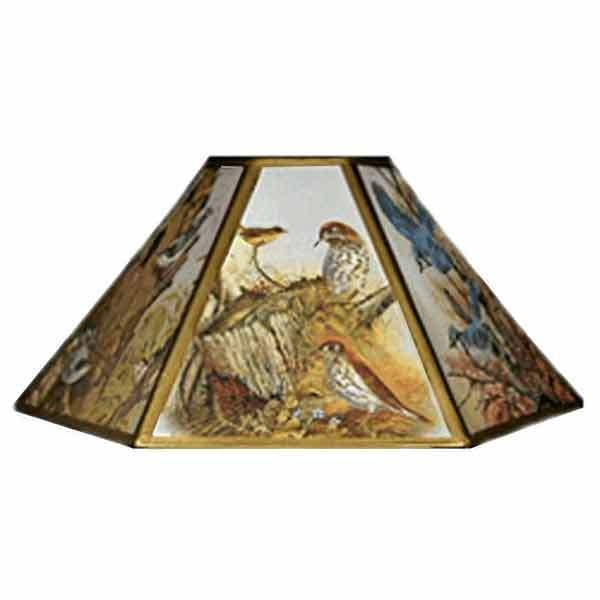 Bird Chimney Lampshades, 14 inch - paxton hardware ltd