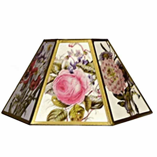 Floral Chimney Lampshades,14 inch - paxton hardware ltd