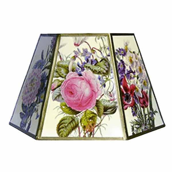 UNO Lamp Shades, adorn with cheerful floral bouquets, complement bridge lamps
