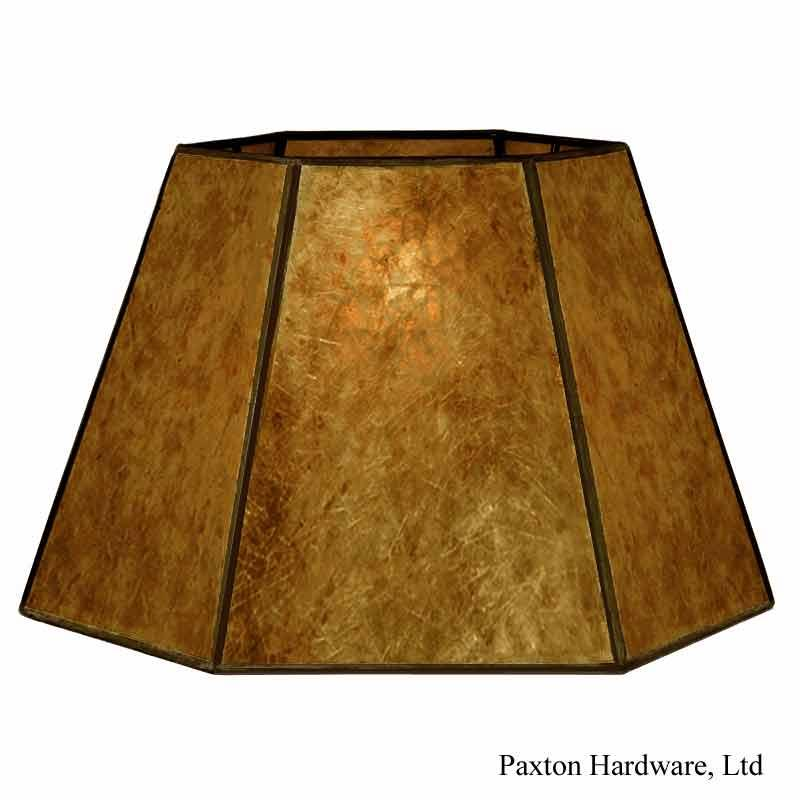 Amber Mica Uno Lampshades - paxton hardware ltd