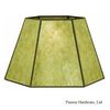 Green Mica Uno Lampshades, for bridge lamps, screw onto lamp socket