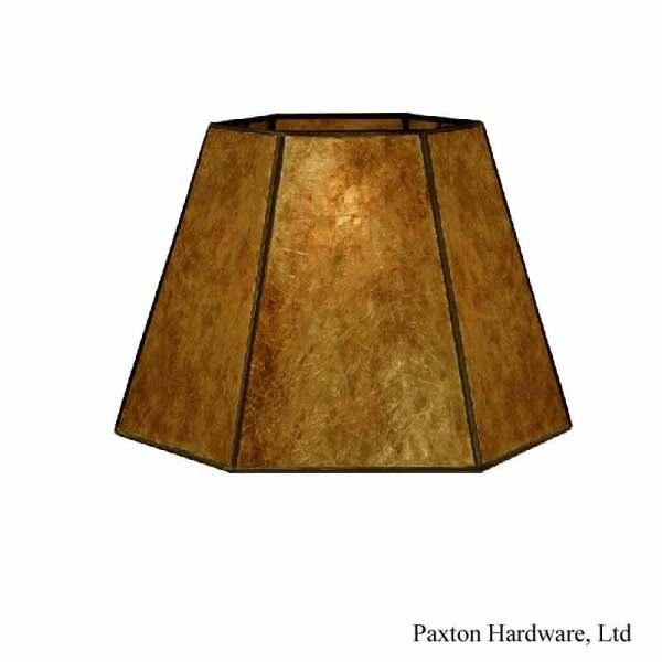 Amber Mica Lamp Shades, 12 inch - paxton hardware ltd