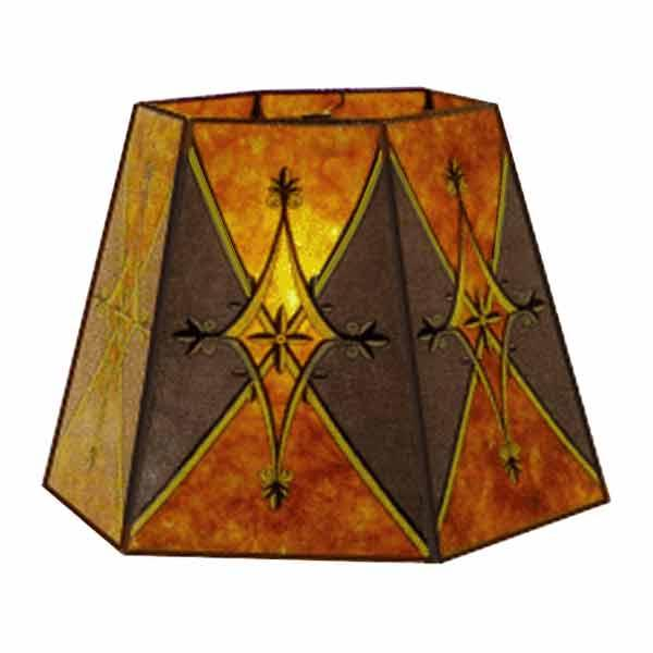 Amber Mica Lampshades for Bridge Lamps - paxton hardware ltd