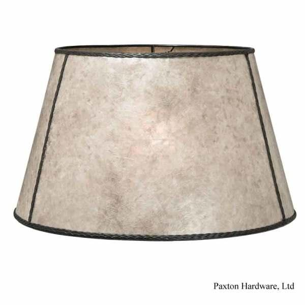 Ivory Mica Lamp Shades are large size for reflector floor lamps or big table lamps