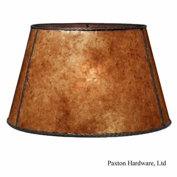 Large Mica Floor Lampshades, Amber - paxton hardware ltd