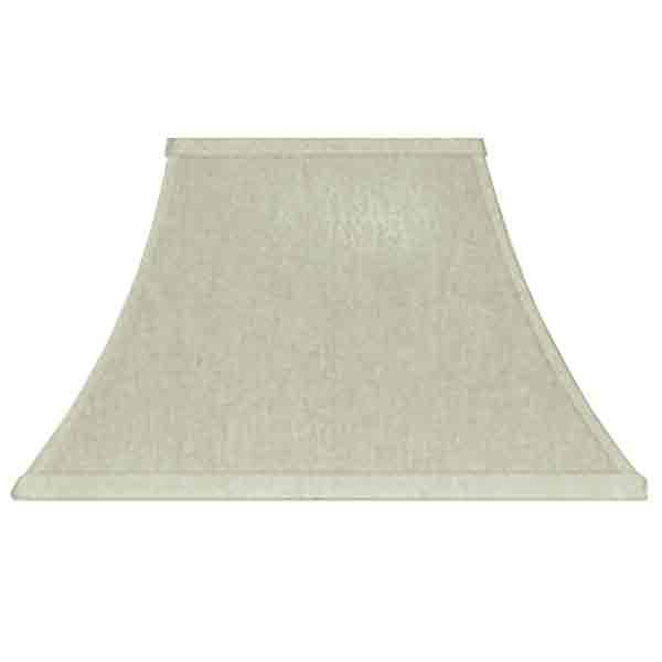 Shapely Rectangular Linen Lampshade with harp type fitter