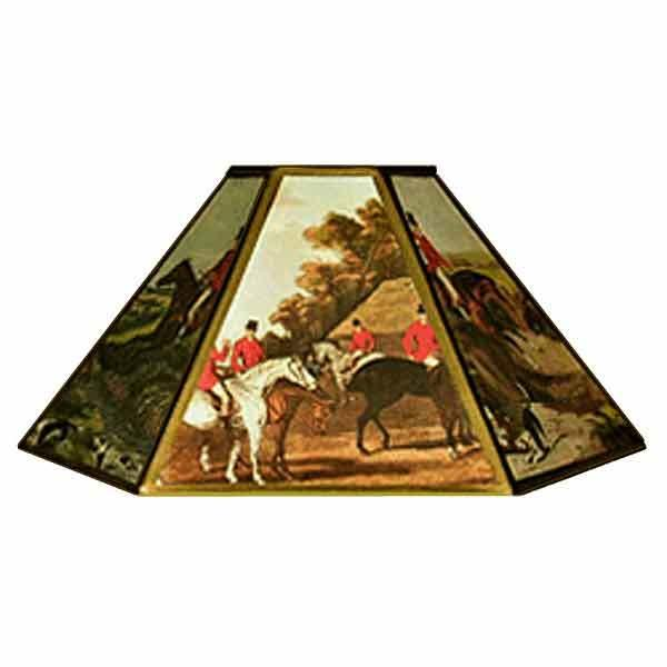 Fox Hunt Chimney Lampshades, 14 inch - paxton hardware ltd