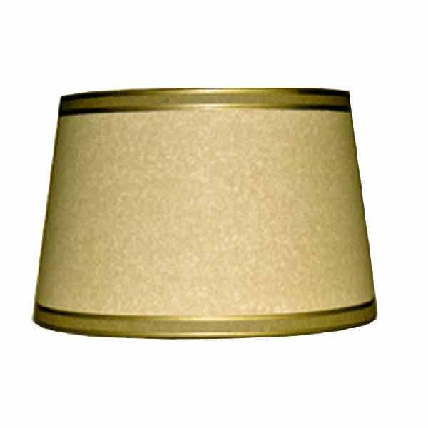 Oval Parchment Drum Lampshades,14 inch