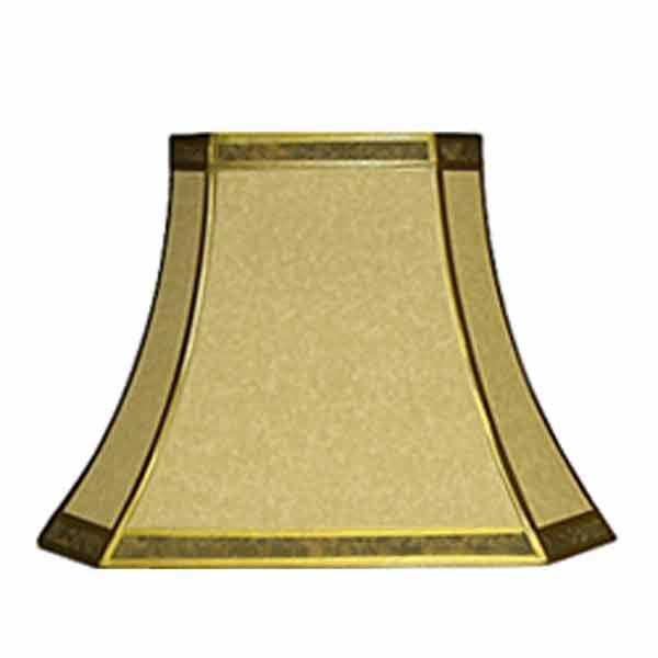 Parchment lamp shades paxton hardware ltd rectangular bell lampshades 16 inch aloadofball Gallery