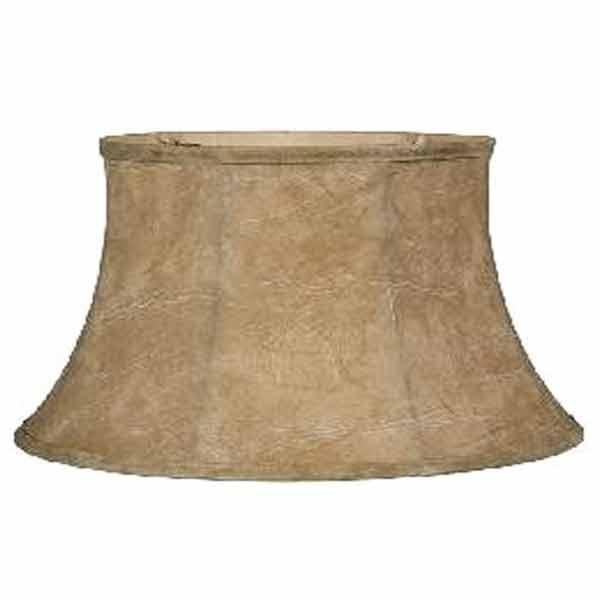 "Large Faux Leather Floor Lamp Shades, use with harp or reflector, 19"" base"