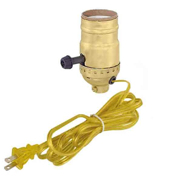 Wired Brass Lamp Sockets - paxton hardware ltd