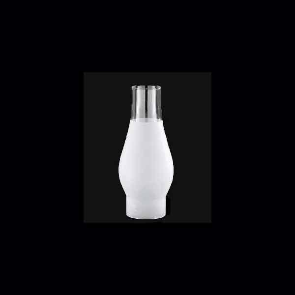 "Frosted Glass Lamp Hurricanes,  2-5/8"" x 8-1/2"""