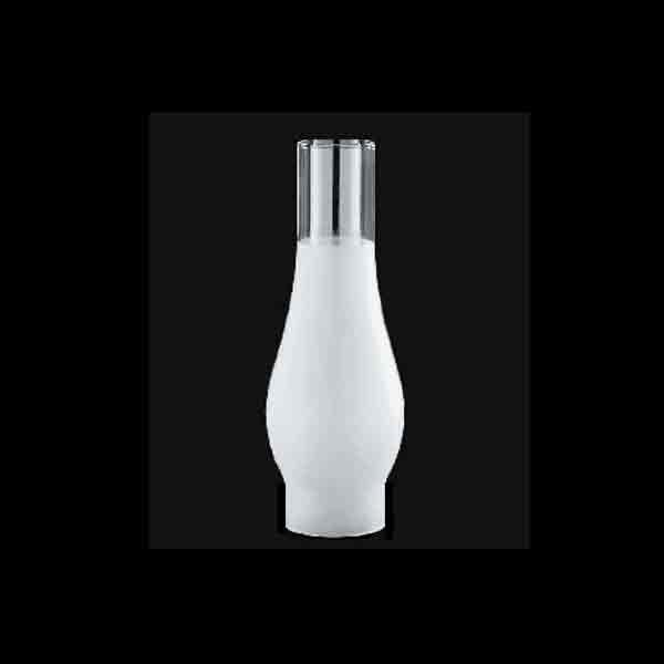 "Frosted Glass Lamp Hurricanes, for Rayo and Rochester lamps,  2-5/8"" x 10"""