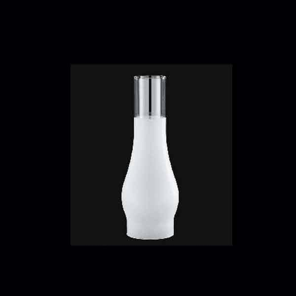 "Frosted Glass Lamp Chimney, 3"" x 10"""